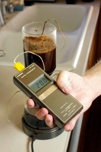 Coffee Temperature test warm