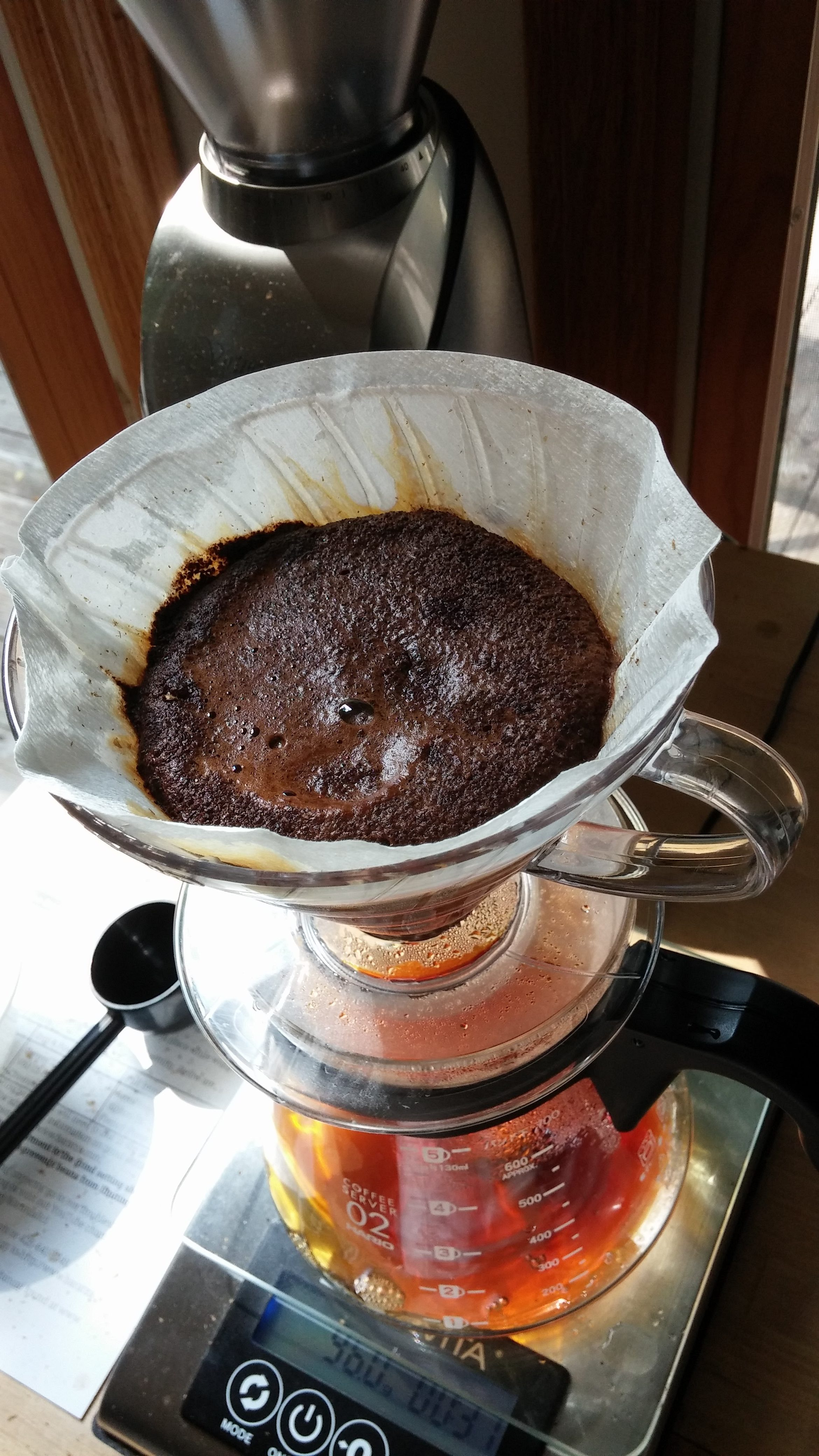 Coffee Companion Kevin Sinnott Brewing Expert Hario Syphon Nouveau Nca 3 I Took Three Month Old Beans From My Freshness System Canister And Brewed A V60 Batch Notice The Gentle Foam Signaling Fresh Oh Yeah
